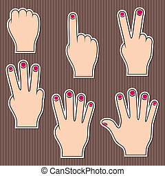 Fingers show numbers