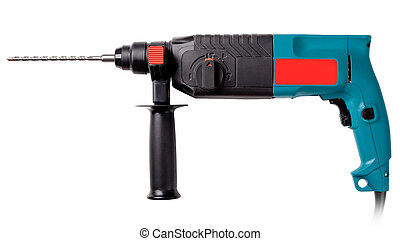 industrial drill - industrial perforator on a white...
