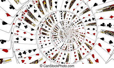 Playing cards - Absract Playing cards animation