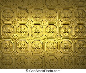 Design template - gold background with beautiful old texture