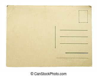 postcard - Blank vintage postcard ready for text