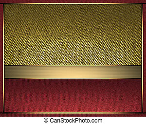 Abstract gold background with inserts of red color for...