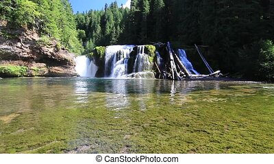 Lower Falls Upper Lewis River - Lower Falls located on the...