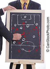 Football manager plan attack game  for match tournament