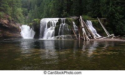 Lower Falls Lewis River - Lower Falls located on the Lewis...