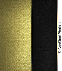 Gold Background with black nameplate for text