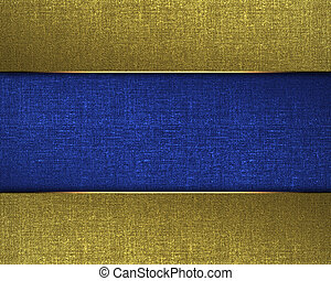 Golden texture with a blue name plate in the middle