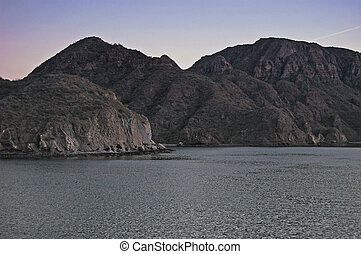 Barren island group in the middle of the Sea of Cortez -...