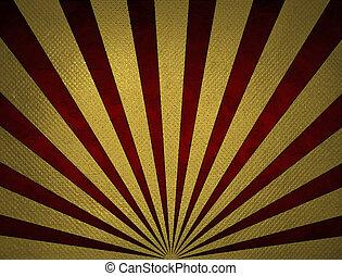 Background golden sunlight.