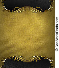 Gold rich texture with black edges and gold trim - Design...