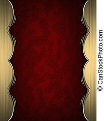 Red rich texture with golden edges and gold trim - Design...