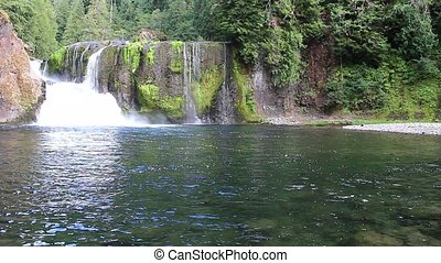 Upper Falls located on the Upper Lewis River east of Cougar...