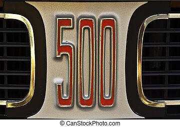 Mighty 500 - Macro of a vintage American automobile