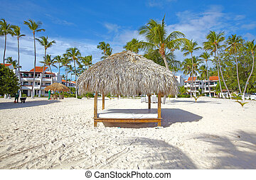 Punta Cana beach. Tropical resort.