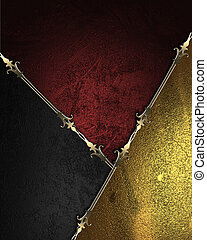 Design template - Gold rich texture with black and gold...