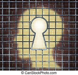 Creative Freedom Key - Creative freedom key with a human...