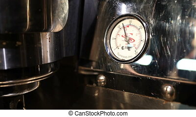 View of modern espresso machine