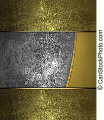 Iron background with gold edges