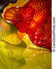 colorful glass work