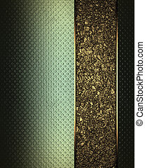 Abstract green Background with beautiful gold nameplate