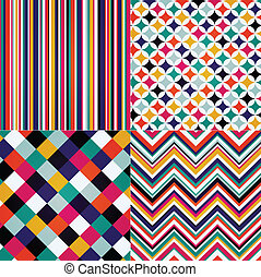 rhombus, stripes, zig zag seamless - rhombus, stripes, and...