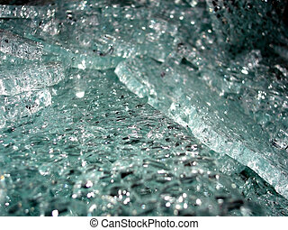 Shattered Safety Glass - A collection of cracked safety...