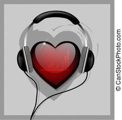 Hear your heart - Hear your heart vector illustration
