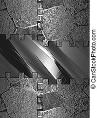 Abstract Iron background with abstract iron plate - The...