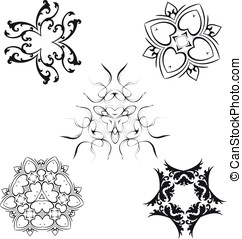 Decorative design and ornamental elements