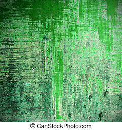 Old wood background in green color