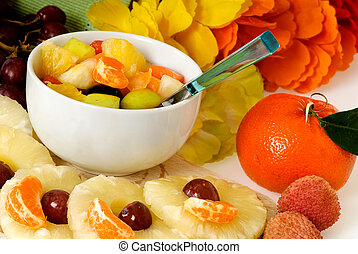 Fruit cocktail snack - Fresh colorful seasonal varied...