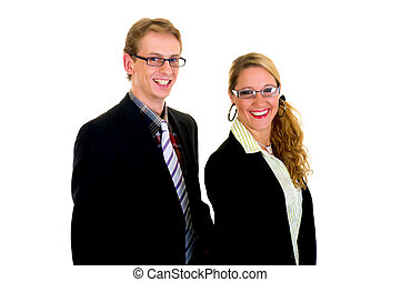 Young businesspeople
