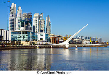 Puerto Madero in Buenos Aires - The modern Puerto Madero...