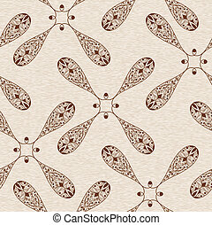 Vector Abstract Ethnic Seamless  Floral Pattern