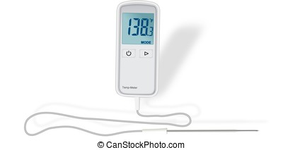 Digital thermometer - Small digital thermometer with...