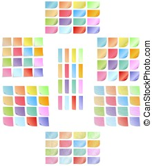 Set of colored sticky notes - Big set of various colored...