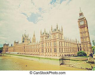 Vintage look Houses of Parliament - Vintage looking Houses...