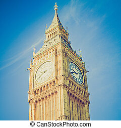 Vintage look Big Ben - Vintage looking Big Ben Houses of...