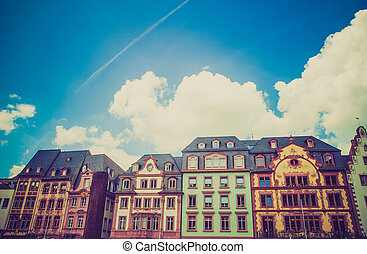 Retro look Mainz Old Town - Vintage looking Mainzer Altstadt...