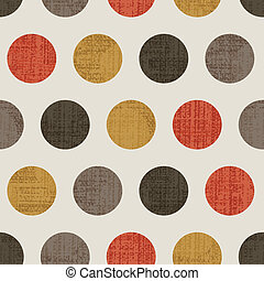 Seamless Colorful Textured Polka Dots
