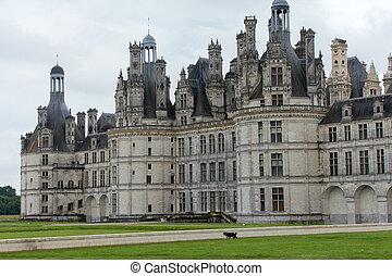 fachada, Residencia lujosa,  De,  Chambord, noroeste
