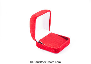 Red small box for expensive gifts and decorations