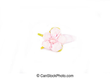 Girl pink hair pins flower