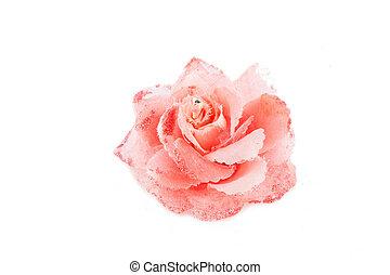 Girl pink hair pins flower