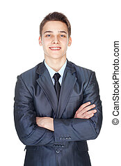 Portrait of young successful businessman - Portrait of...