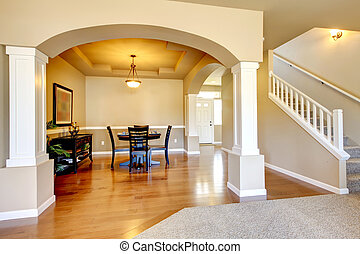 New home dining room interior. - New home dining room...