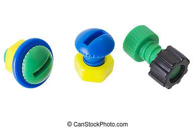 Meccano - Children\'s plastic multi-coloure nut and bolt on...