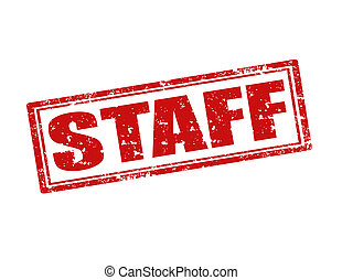 Staff-stamp - Grunge rubber stamp with word Staff,vector...