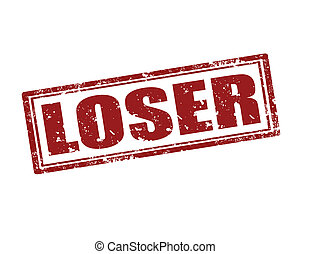 Loser-stamp - Grunge rubber stamp with word Loser,vector...