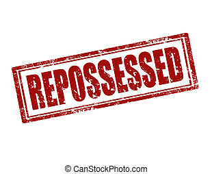 Repossessed-stamp - Grunge rubber stamp with word...